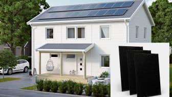 NIBE Energy Systems solcellspaneler PV - i All Black och med 295 Wp per panel
