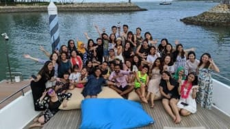 The APRW Singapore team at a year-end party