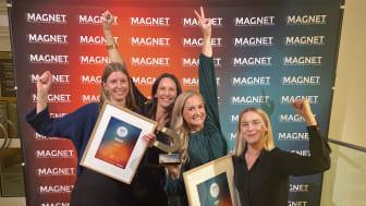 Charlotte Resare, Hanna Carlsson, Emma Blixt och Regina Lindstedt på Circle K HR- respektive Kommunikationsavdelning