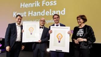 Fra venstre: Ivar Horneland Kristensen, Knut Handeland, Henrik Foss og Grete Ingeborg Nykkelmo. Foto: Kilian Munch/Virke.