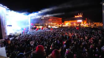 VINTERLYD I TRONDHEIM: Fullt på Trondheim Torg under Vinterlyd i 2015