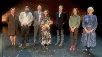 Foto: (Från vänster i bild) Lise-Lotte Axelsson, Michael Francis Duch, Wilhelm Carlsson, Mareike Nele Dobewall, Johan Jutterström, Maria Andueza och Joslin McKinney. Fotograf: Cecilia Roos
