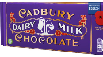 Limited Edition Cadbury Dairy Milk Remembrance Bar Launched To Say Thank You On The WW1 Centenary