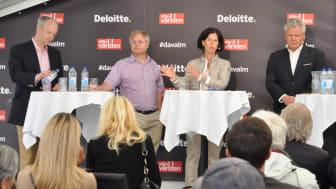 Från vänster: Lars Ingemarsson, Managing Director, Martin Gren, medgrundare Axis, Sophie Nachemson-Ekwall, forskare och författare Handelshögskolan i Stockholm och Lauri Rosendahl, vd Nasdaq Stockholm och Nordics.