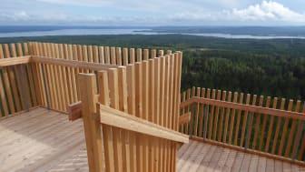 Bild från det nya utsiktstornet i Siljansnäs. Foto: naturum Dalarna