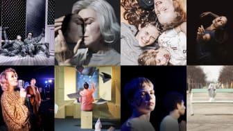 Collage av höstens föreställningar på Regionteatern Blekinge Kronoberg.