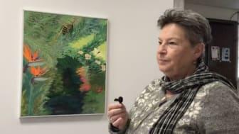 Lotta Persdotter Andersson - en av utställarna på Konstfrämjandet Bergslagen i Örebro.