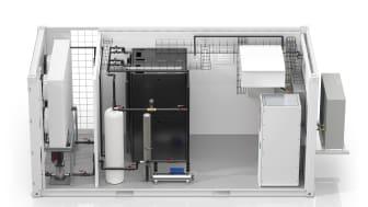 Nu lanseras EcoStruxure Modular Data Center – ett vätskekylt komplett datacenter från Schneider Electric