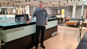 På billedet ses Nikolaj Gregersen, butikschef i ILVA Slagelse. Bolighuset er lige nu under omfattende ombygning, og personalet er samtidig ved at gøre klar til forårets mange nyheder, som snart lander.