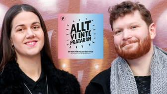 Ida Östensson och Thor Rutgersson, författare till boken Allt vi inte pratar om och programledare för podden med samma namn.