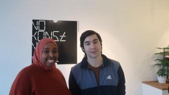 Två av tre textpristagare: Nasrin Mohamoud, Amar Jasarevic