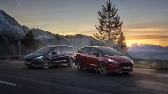 Nye Ford S-MAX hybrid og Galaxy hybrid er klare for Norge