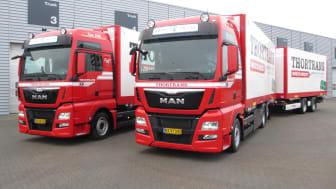 De to nye MAN'er til Thortrans er klar til levering
