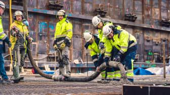 Gjutningen av 420 BRABO-lägenheter i Haga Norra påbörjad