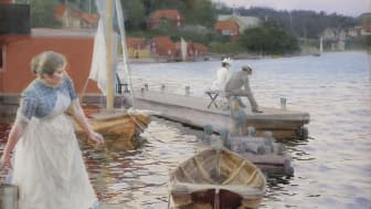 Anders Zorn, Vågskvalp, 1887. Foto: Statens Museum for Kunst.