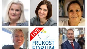 Medverkande vid FrukostForum i Vänersborg i november 2020