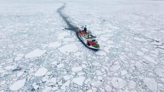 Mosaic ekspedisjonen tar målinger av atmosfære, hav, økologi og trenger flere typer gass.
