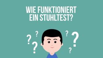 Wie funktioniert ein Stuhltest? Erklärvideo der Felix Burda Stiftung