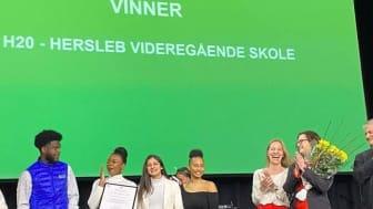 H20vgs ble annonsert som årets entreprenørskapsskole i Oslo, mars 2020.