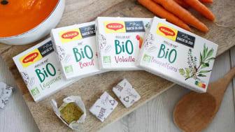 Lige nu testes en banebrydende genanvendelig papiremballage til Maggi-bouillonterninger i Frankrig.