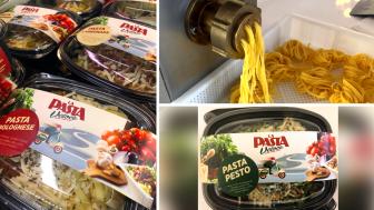 Portioner med färsk pasta