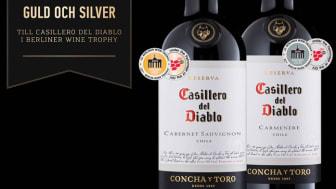 Guld och silver till Casillero del Diablo i Berliner Wine Trophy