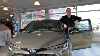 Bodø: Salgssjef Tom Fossen fra Nordvik er klar for lansering av nye Corolla.