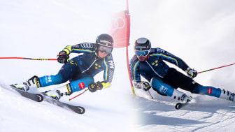 Sara Hector och Matts Olsson är två av svenskarna till start i Sölden. Foto: Erik Segerström/SSF