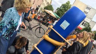 """Kunstprojektet """"Co-cities"""" var et af resultaterne fra studieturen i 2016. Her vist under 48Stunden Neukölln, Berlin i 2017."""