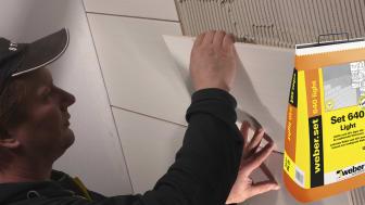 weberset 640 light är ett smidigt och flexibelt lättfix för de flesta golv-/väggplattor