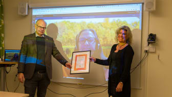 Jonas Sundström kommunstyrelsens ordförande och Anna Sundbom vd Tillväxt Lidköping