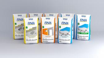 Populære tørrmørtelprodukter i forbedrede sekker med ny design