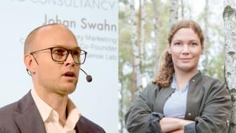 Sensoriker Johan Swahn och kockan Sofia B Olsson föreläser om smak och honung.