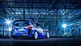 Nu presenteras Ford Fiesta WRC med en ny iögonfallande design inför FIA World Rally Championship 2020.
