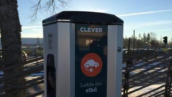 CLEVER laddstation på Växjö Småland Airport som en del av EU-projektet MECOR
