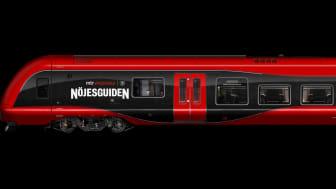 Nöjeståget är ett samarbete mellan Nöjesguiden och MTR Express