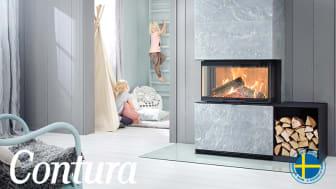 Ny insats för moderna hem visar mycket eld