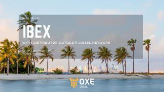 OXE Diesel displayed at IBEX by Outdoor diesel network