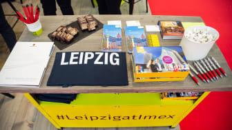 """Informationsmaterial und """"Kalter Hund"""" an Leipzigs Stand auf der IMEX 2019"""