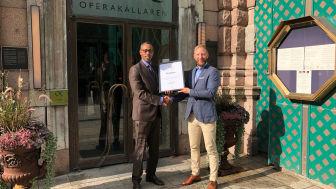 Abbe Ibrahim, vd på Operakällaren och Jannis Norén Karas, medlemschef på Svenska Möten