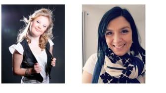 Årets UPP-pristagare; Amanda Malmberg, t v (foto via Vaktel Förlag). Linda Wenthe, t h, (foto privat)