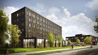 Skitsering af det nye Zleep hotel i Lyngby