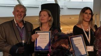 Priset utdelades på Apoteksforum 9 oktober. Från vä Lars Rönnbäck, Sanja Pudar Crnalic, Sandra Yilmaz och Karin Meyer.