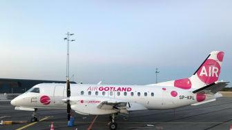 AirGotland flyger snart 8 fler turer i veckan mellan Visby och Bromma med sin SAAB 340