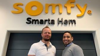 Henrik Bengtsson Wällersten och Samir Diaz, affärsutvecklare Somfy Smarta Hem