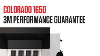 Colorado 1650 og dens UVgel 460 ink får 3M Performance Guarantee