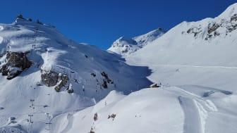 Blick ins Engital, wo künftig die zwei Sommer-Schneedepots errichtet werden sollen