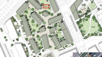 Lindholmshamnen, Riksbyggen, illustration