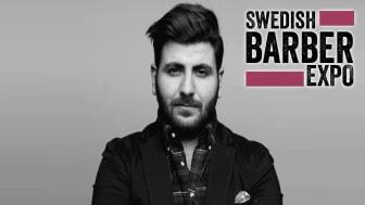 """Elias Habibson tävlar för """"övriga Sverige"""" i Swedish Barber Expo Barber Battle 2017"""