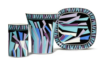 Bringing the heritage collection of Emilio Pucci up to date: new Rosenthal decor Zadig.